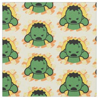 Kawaii Hulk With Marvel Hero Icons Fabric