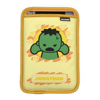 Kawaii Hulk With Marvel Hero Icons iPad Mini Sleeve