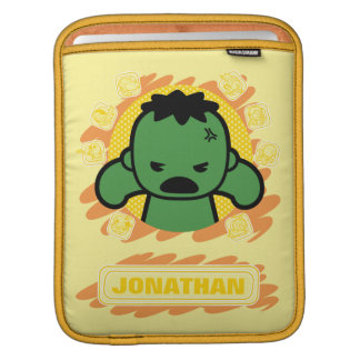 Kawaii Hulk With Marvel Hero Icons iPad Sleeve