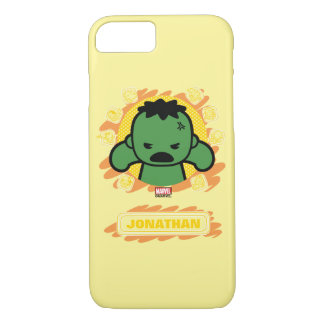 Kawaii Hulk With Marvel Hero Icons iPhone 8/7 Case