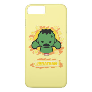 Kawaii Hulk With Marvel Hero Icons iPhone 8 Plus/7 Plus Case