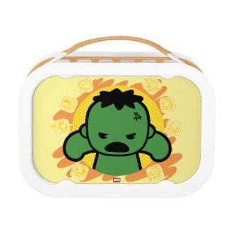 Kawaii Hulk With Marvel Hero Icons Lunch Box