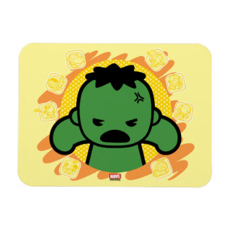 Kawaii Hulk With Marvel Hero Icons Magnet
