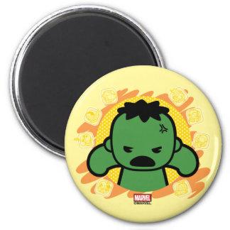 Kawaii Hulk With Marvel Hero Icons Magnet