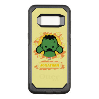 Kawaii Hulk With Marvel Hero Icons OtterBox Commuter Samsung Galaxy S8 Case