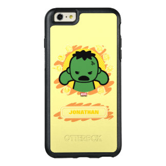 Kawaii Hulk With Marvel Hero Icons OtterBox iPhone 6/6s Plus Case