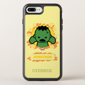 Kawaii Hulk With Marvel Hero Icons OtterBox Symmetry iPhone 8 Plus/7 Plus Case