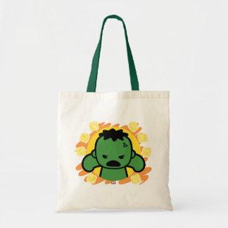 Kawaii Hulk With Marvel Hero Icons Tote Bag