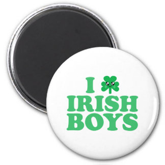 KAWAII I LOVE IRISH BOYS SHAMROCK HEART LUCK IRISH 6 CM ROUND MAGNET