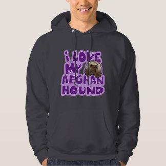 Kawaii I Love My Afghan Hound Hoodie