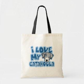 Kawaii I Love My Catahoula Tote Bag
