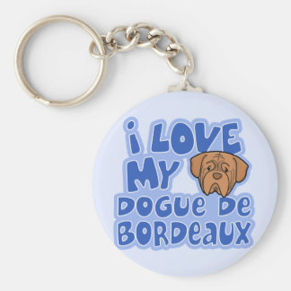 Kawaii I Love My Dogue de Bordeaux Keychain