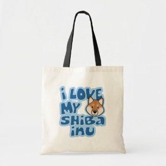 Kawaii I Love My Shiba Inu Tote Bag