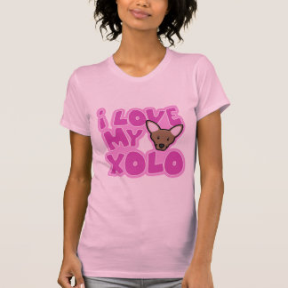 Kawaii I Love my Xolo Ladies T-Shirt