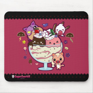 Kawaii Ice Cream Attacked! Mouse Pad