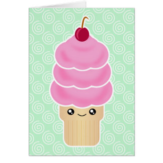 Kawaii Ice Cream Birthday Card