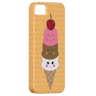 Kawaii Ice Cream Cone in Orange iPhone 5 Cover