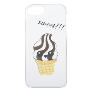 Kawaii ice cream cone phone case
