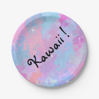 Kawaii Inscription Pastel Magical Sparkles Cute Paper Plate
