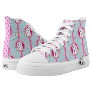 Kawaii inspired unicorn polka dots sneakers