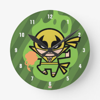 Kawaii Iron Fist Chi Manipulation Round Clock