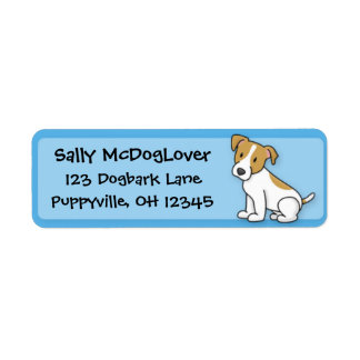Kawaii Jack Russell Terrier Return Address Label