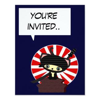 kawaii japan ninja invitation