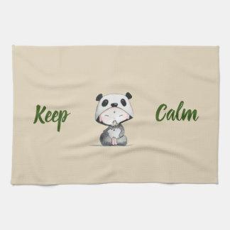 Kawaii// Keep Calm // Panda Ears Tea Towel
