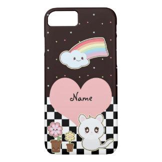 Kawaii kitten and rainbow so cute iPhone 8/7 case