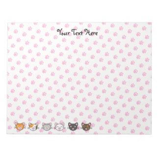"""Kawaii Kitty Notepad - 8.5"""" x 11"""""""