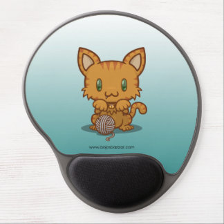 Kawaii Kitty (Orange Striped) Gel Mouse Pad