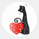 Kawaii Kitty Round Sticker