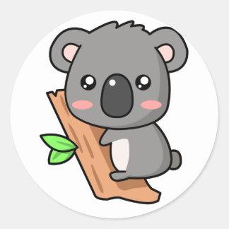 Kawaii Koala Round Sticker