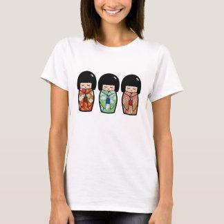 Kawaii Kokeshi Trio Japanese Doll Shirt