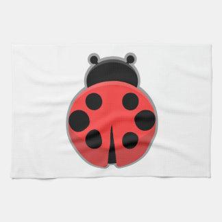Kawaii Ladybug Tea Towel