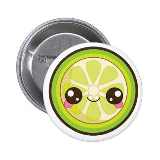 Kawaii Lime Pinback Button