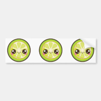 Kawaii Lime Bumper Stickers
