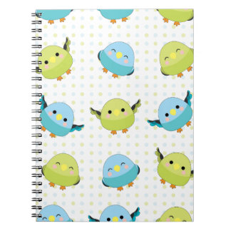 Kawaii Lineolated Parakeet Gear Notebook