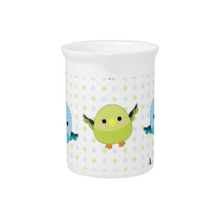 Kawaii Lineolated Parakeet Gear Pitcher