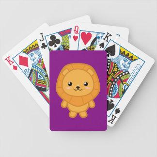 Kawaii Lion Bicycle Playing Cards