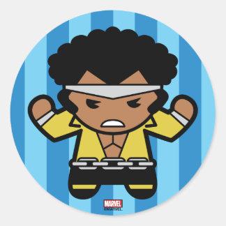 Kawaii Luke Cage Flexing Classic Round Sticker
