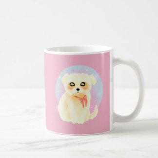 Kawaii Maltese Puppy Dog Coffee Mug