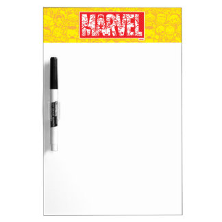 Kawaii Marvel Logo With Super Hero Pattern Dry Erase Board