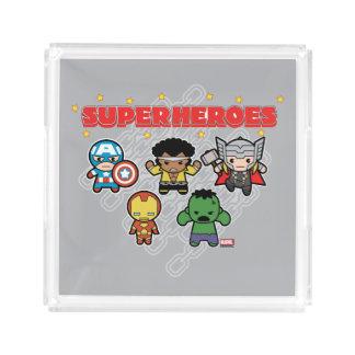 Kawaii Marvel Super Heroes Acrylic Tray