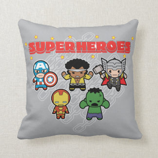 Kawaii Marvel Super Heroes Cushion