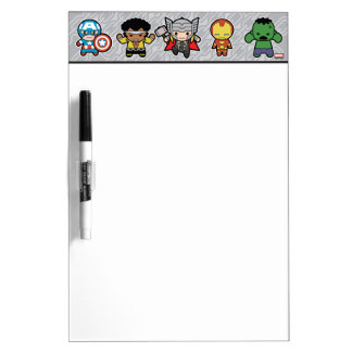 Kawaii Marvel Super Heroes Dry Erase Board