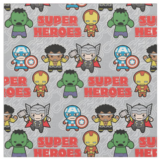 Kawaii Marvel Super Heroes Fabric