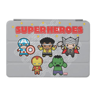 Kawaii Marvel Super Heroes iPad Mini Cover