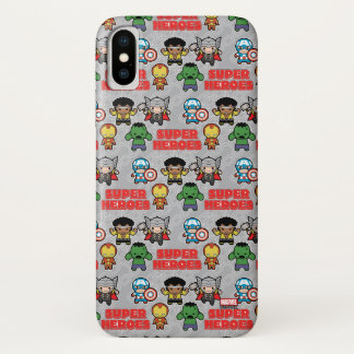 Kawaii Marvel Super Heroes iPhone X Case