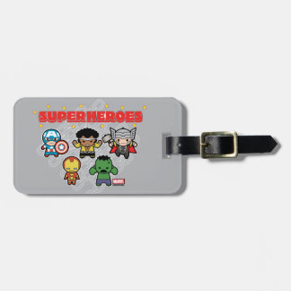 Kawaii Marvel Super Heroes Luggage Tag
